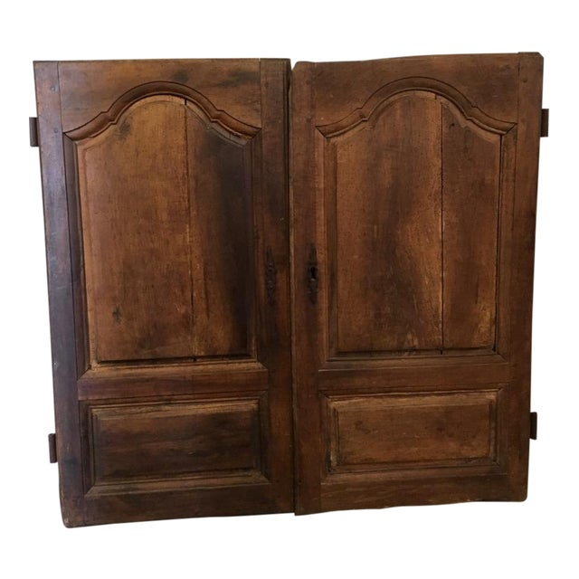 Late 18th Century Walnut French Cabinet Doors- a Pair For Sale
