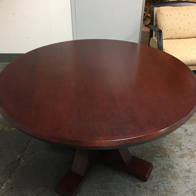 Custom Lana Round Maple Table For Sale - Image 5 of 7