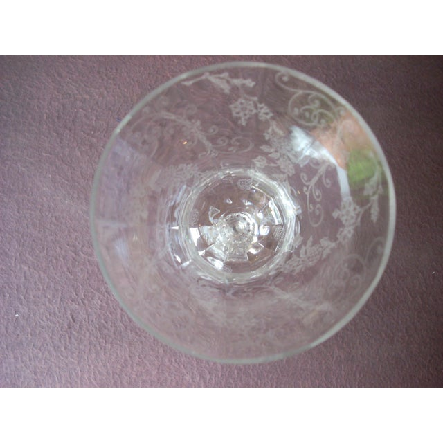 1940s Etched Crystal Stems - Set of 8 For Sale - Image 6 of 7