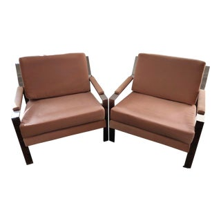 Milo Baughman by Thayer Coggin Chairs- A Pair For Sale
