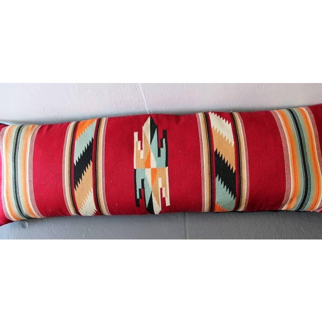 1930s Amazing Large Mexican American Bolster Pillow For Sale - Image 5 of 5