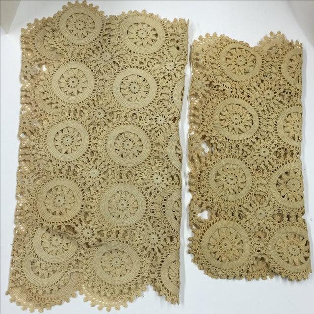 Vintage Handmade Crocheted Runners - A Pair - Image 4 of 6