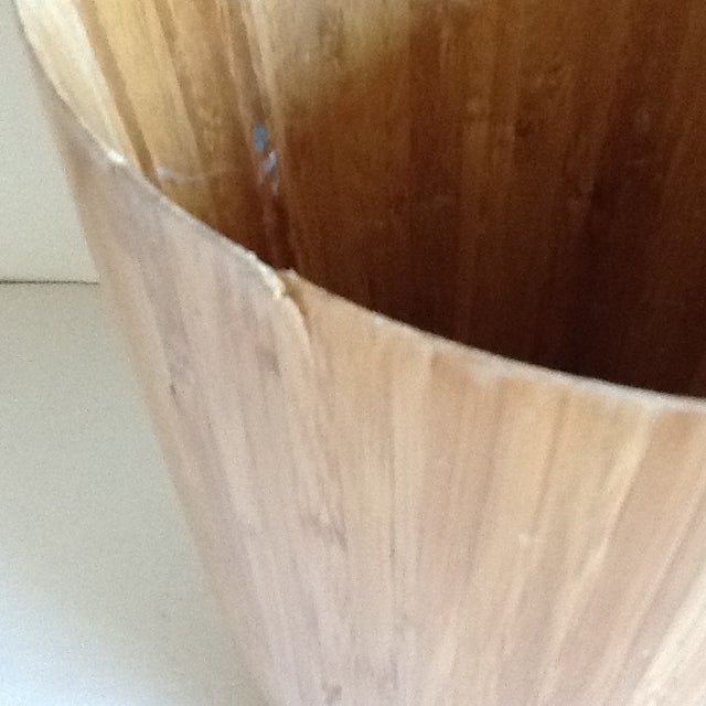 Bamboo Wood Waste Basket For Sale In Los Angeles - Image 6 of 8