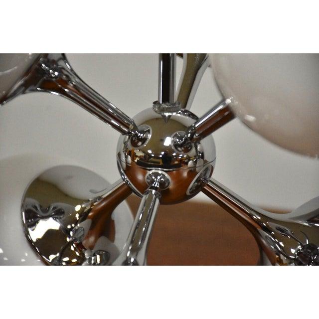 1950s Lightolier Chrome Sputnik Chandeliers- Set of 3 For Sale - Image 5 of 9
