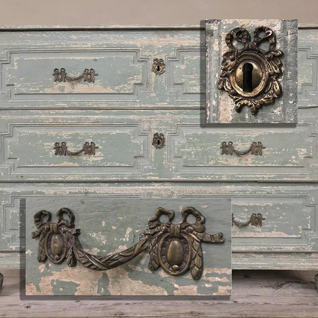 18th Century Country French Painted Commode For Sale - Image 10 of 13