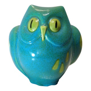 Vintage Italian Pottery Owl Bank For Sale