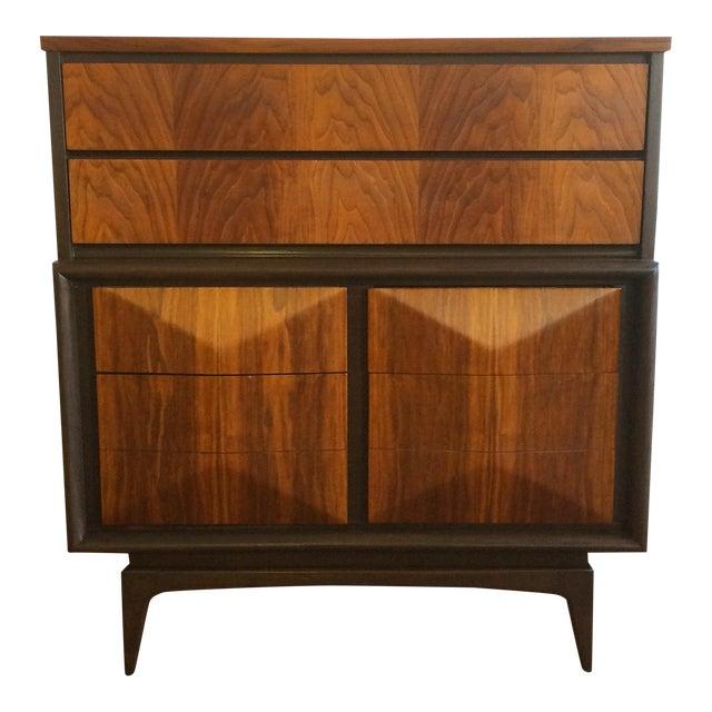 United Furniture Diamond Highboy Dresser For Sale