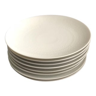 Rosenthal Germany Modern White Textured Dessert / Bread Plates - Set of 8