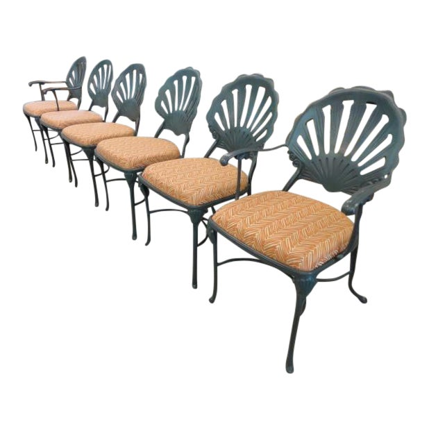 Vintage Shell Back Chairs - Set of 6 - Image 1 of 11