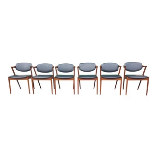 Kai Kristiansen Danish Teak Dining Chairs - Set of 6