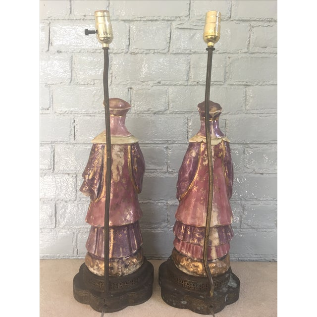 Chinese Ancestral Figural Lamps - Pair - Image 10 of 10
