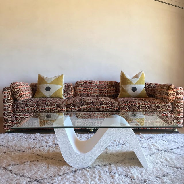 Vintage Post Modern Sculptural Plaster Wave Coffee Table For Sale In San Diego - Image 6 of 12