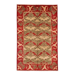 """Arts & Crafts Hand Knotted Area Rug - 4'10"""" X 7'10"""" For Sale"""