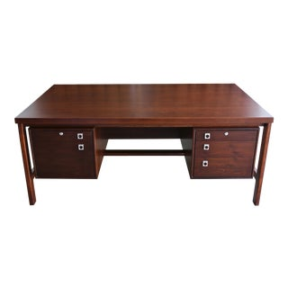 Arne Vodder Rosewood Executive Desk for h.p. Hansen For Sale
