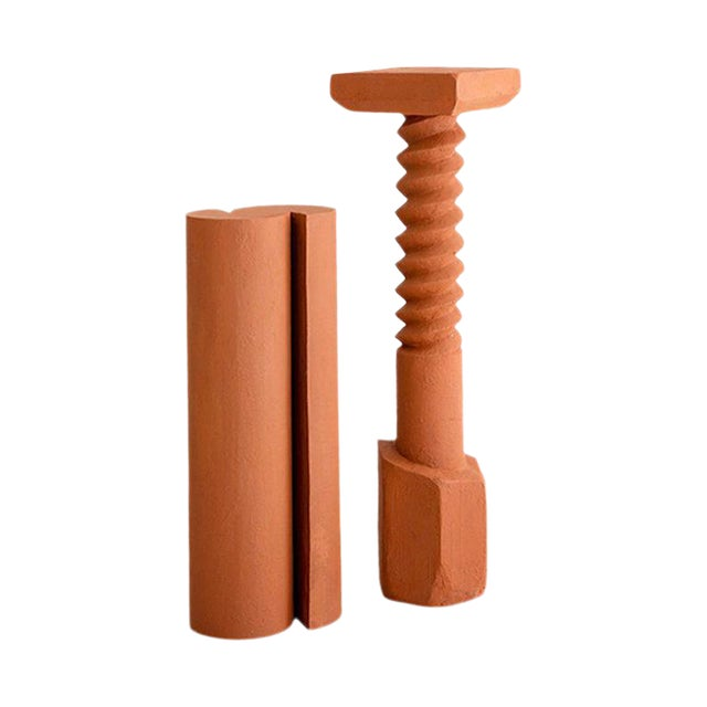 Terracotta Pedestals, Hand Sculpted, Rooms For Sale