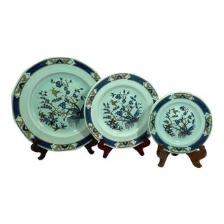 Adams Calyx Ware Plates Ming Toi Pattern, Set of 5 For Sale