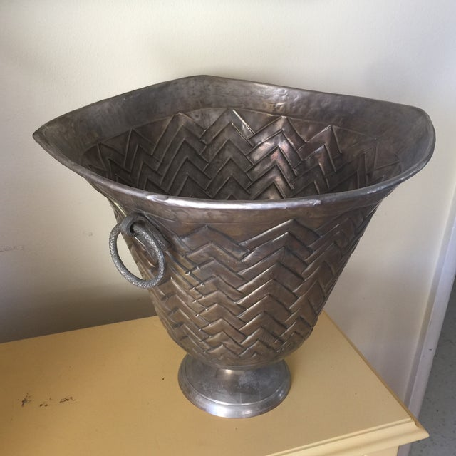 Engraved Metal Vessel Ice Bucket - Image 6 of 10