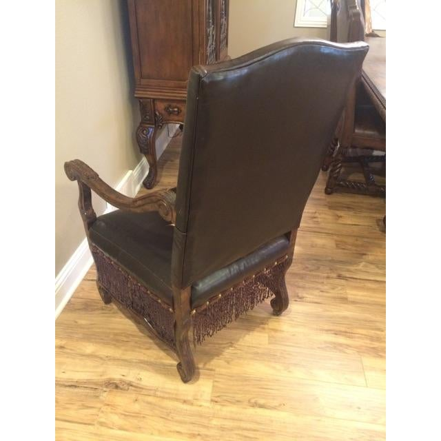 Axis Deer Hide & Leather Armchairs - Pair For Sale - Image 5 of 9