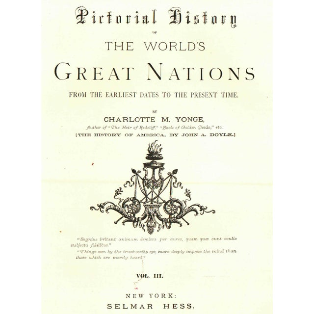 Pictorial History of the World's Nations by Charlotte M. Yonge - Image 2 of 5