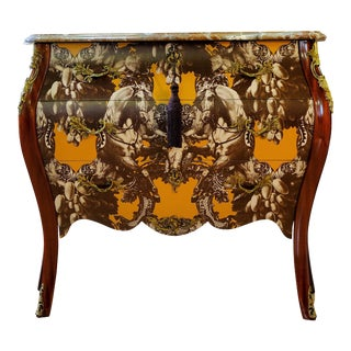 Rococo Three Drawer Chest With Marble Top For Sale