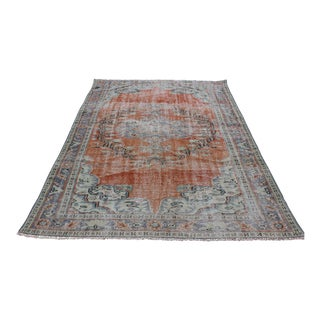Traditional Dining Room Size Oushak Rug - 8' 7'' x 5' 5''
