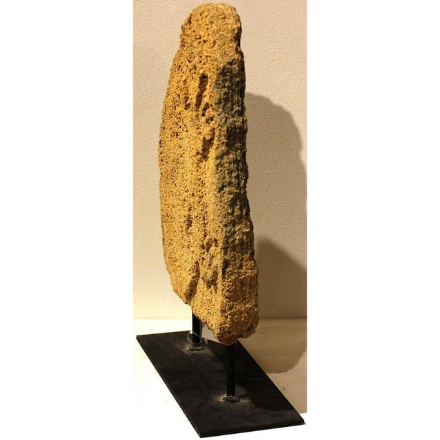Asian Coral Stone on Stand With Lizzard For Sale - Image 3 of 4