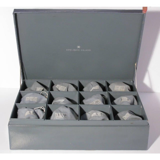 Steuben Champagne Glasses for Gumps - Set of 12 For Sale - Image 7 of 8