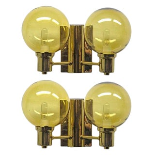 Pair of Double Arm Wall Lights by Hans Agne Jakobsen For Sale