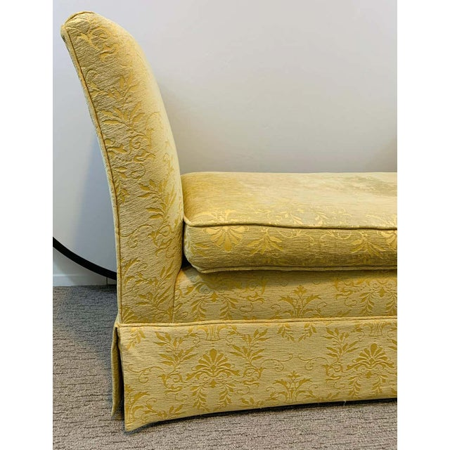 Gold French Art Deco Style Yellow Gold Bench or Window Seat After Dominique, a Pair For Sale - Image 8 of 13