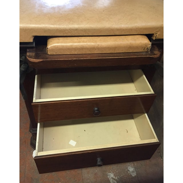Brown 1930s Hamilton Mfg Physicians Exam Cabinet Table For Sale - Image 8 of 11