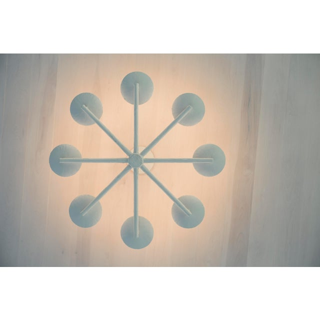 Not Yet Made - Made To Order Plaster Spoke Chandelier With White Finish For Sale - Image 5 of 11