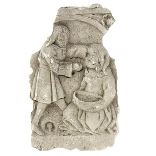 Relief Sculpture of Two People For Sale