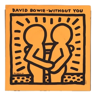 Keith Haring Illustrated David Bowie Record