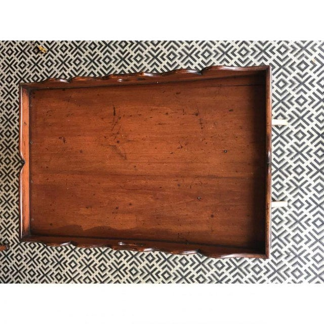 Cottage 19th C. English Butler's Tray For Sale - Image 3 of 3