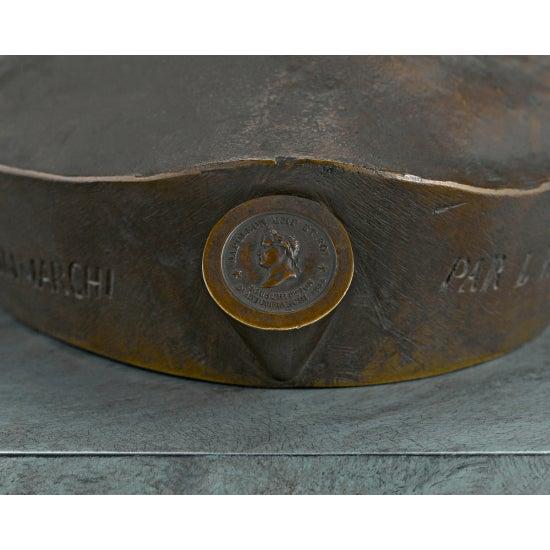 Bronze Bronze Death Mask of Napoleon i For Sale - Image 7 of 8