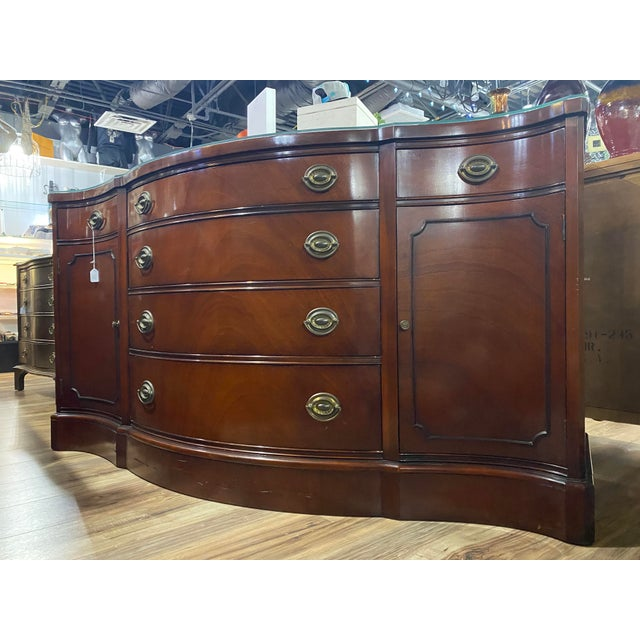 """Mahogany """"Drexel Heritage Credenza For Sale - Image 9 of 9"""
