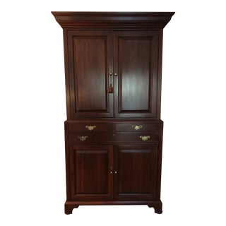 1990s American Classical Lexington Bob Timberlake Media Center Armoire For Sale