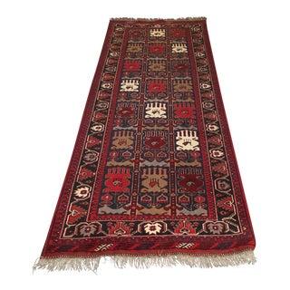 1970s Afghan Wool Runner Rug - 9′3″ × 3′