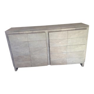 R & Y Augousti Natural Shagreen Buffet For Sale