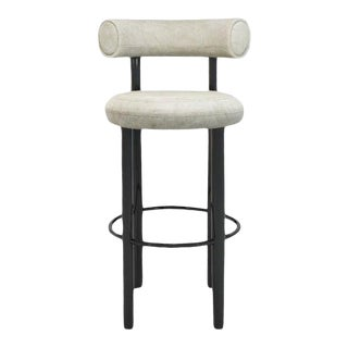 Tom Dixon Fat Bar Stool - Royal Nubuck For Sale