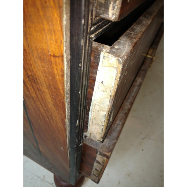 1920s Anglo Indian Ebony and Satinwood Cupboard For Sale - Image 10 of 12