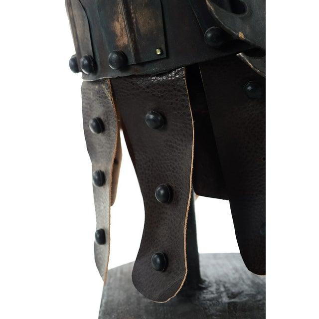 Chinese Bronze Warrior Helmet For Sale - Image 4 of 9