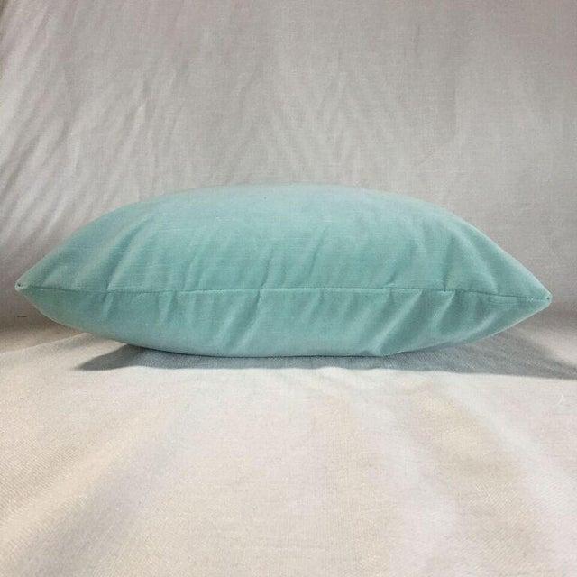 Contemporary Kim Salmela Light Blue Velvet Pillow For Sale - Image 3 of 3
