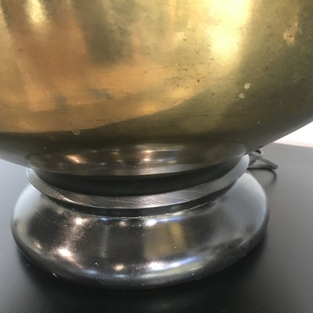 1970s Vintage Large Scale Brass Lamps - a Pair For Sale - Image 4 of 7