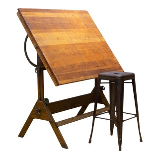 Dietzon Drafting Table/Dining Table/Desk C.1930 For Sale