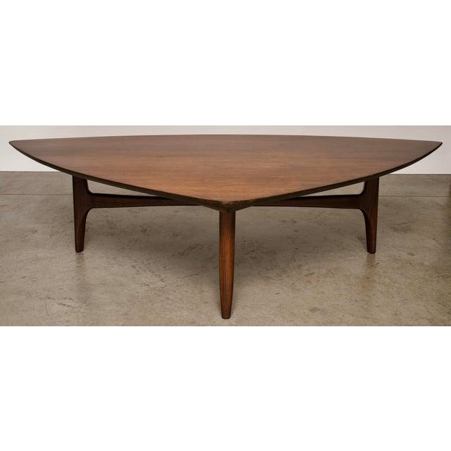 Walnut 1960s Mid-Century Modern Erwin Lambeth Walnut Coffee Table For Sale - Image 7 of 10