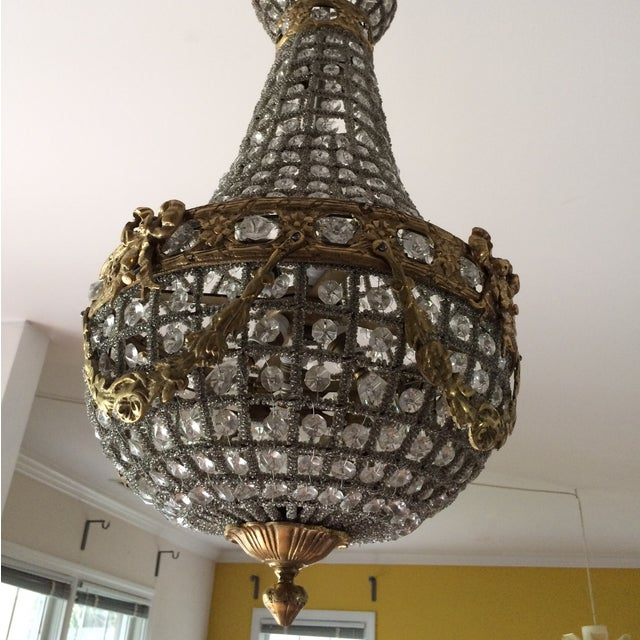 Empire Chandelier With Brass Detail - Image 6 of 6