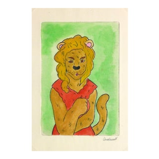 Ana May, Etching - the Lioness For Sale