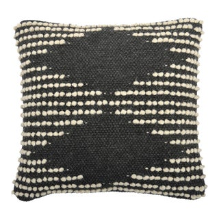 Hand Woven Gray & White Pillow