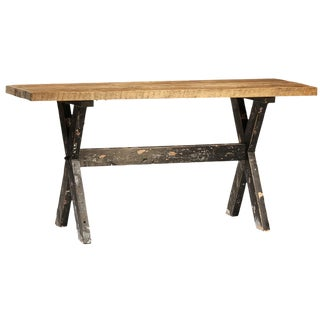 Distressed Frame Counter Table For Sale